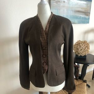 Christian Dior brown wool blazer jacket